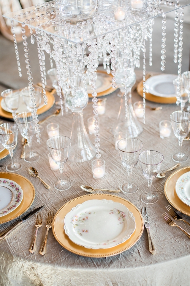 Crystals centerpiece | Erin Lindsey Images