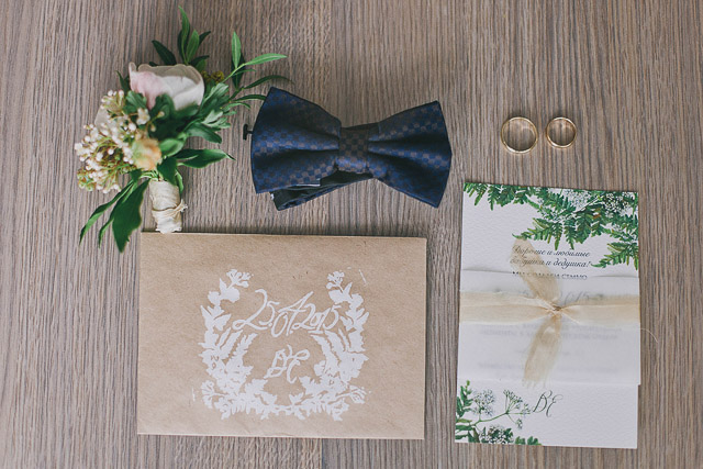 botanical stationery suite wedding | Photographer Elina Sazonova