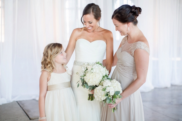 Bride, bridesmaid, and flower girl | Erin Lindsey Images