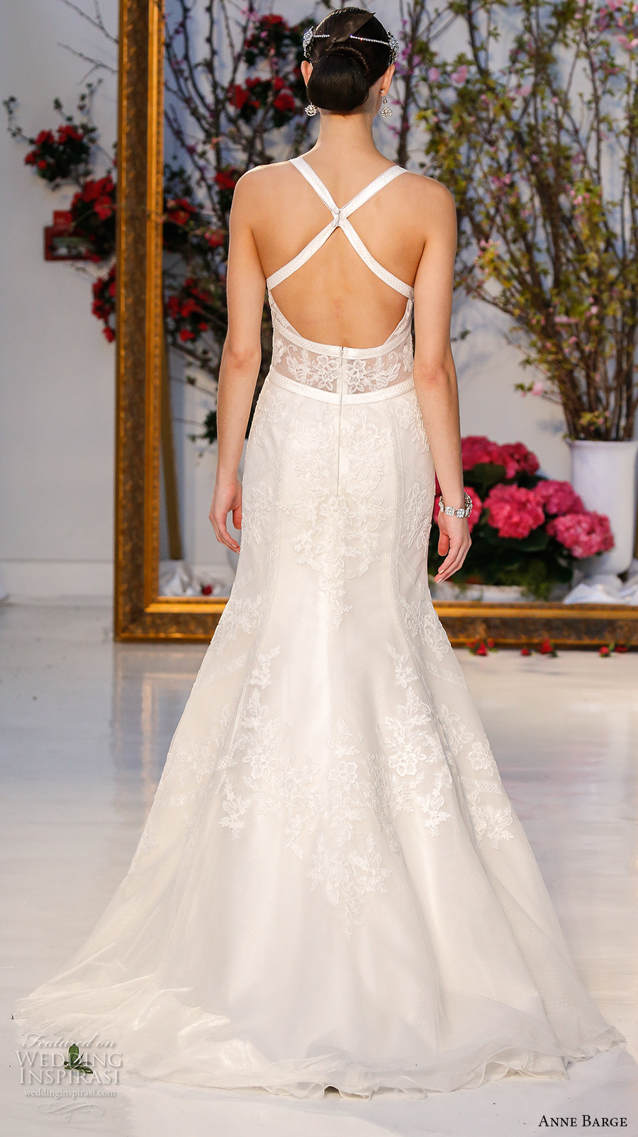 anne barge spring 2017 bridal sleevless strap plunging v neck lace bodice sexy fit to flare wedding dress low back sweep train (002) bv