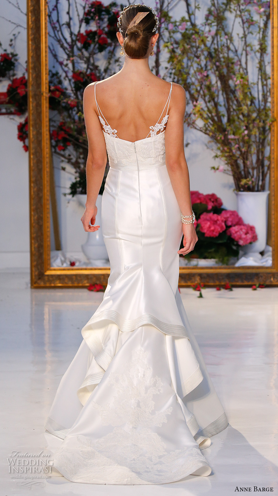 anne barge spring 2017 bridal spagetti strap sweetheart neckline bustier lace bodice beautiful satin mermaid wedding dress sweep train (001) bv
