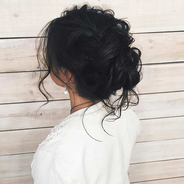 Messy Prom Updo for Long Hair