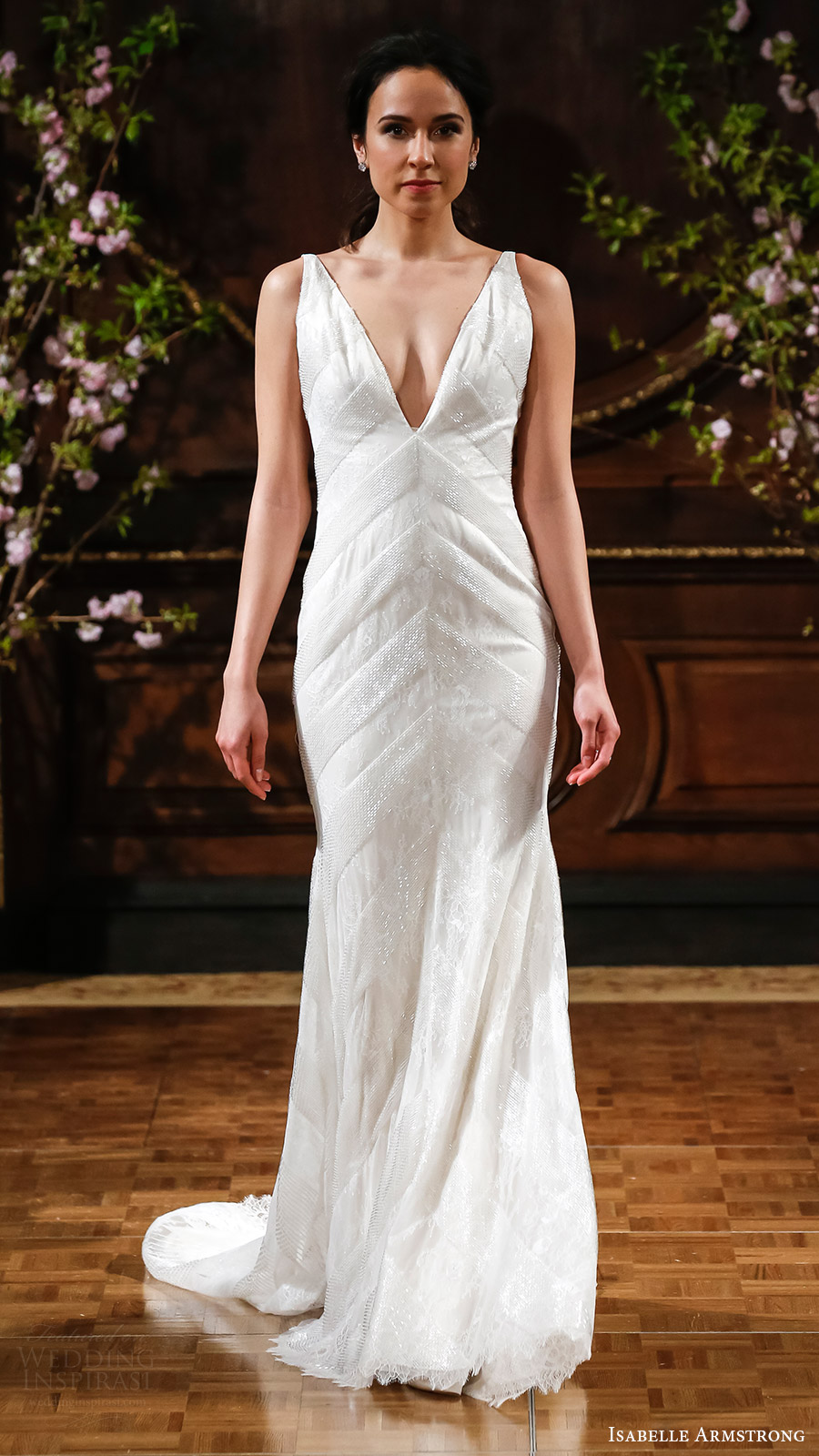 isabelle armstrong bridal spring 2017 sleeveless vneck trumpet wedding dress (rusty) mv elegant