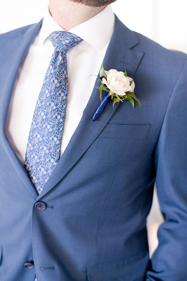blue grooms suit - photo by Amy and Jordan Photography http://ruffledblog.com/handcrafted-romance-wedding-inspiration