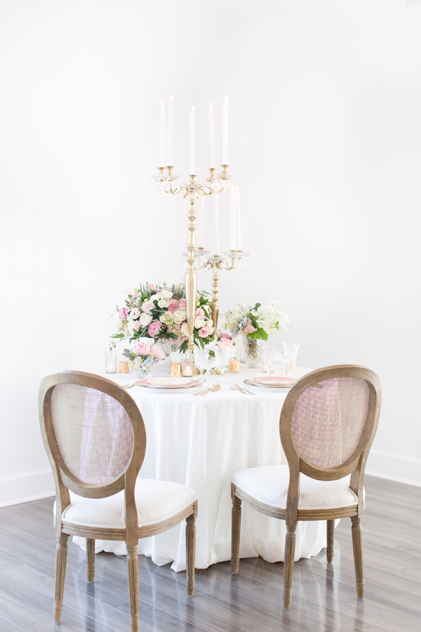 romantic wedding table - photo by Amy and Jordan Photography http://ruffledblog.com/handcrafted-romance-wedding-inspiration
