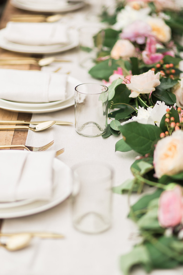 tablescape with glasses - photo by Fabiola Isabel Photography http://ruffledblog.com/charleston-styled-bridal-shower