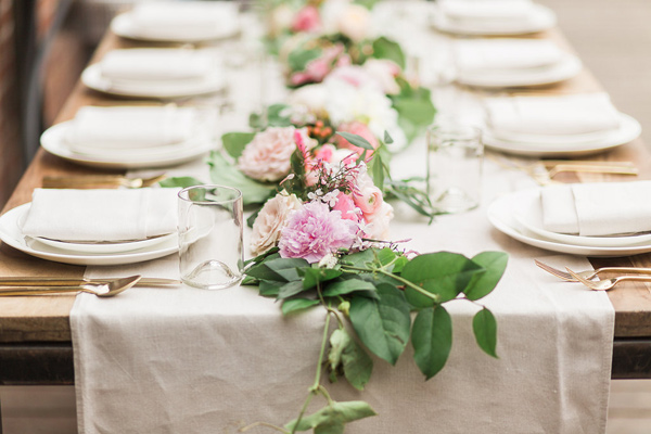 table runner - photo by Fabiola Isabel Photography http://ruffledblog.com/charleston-styled-bridal-shower