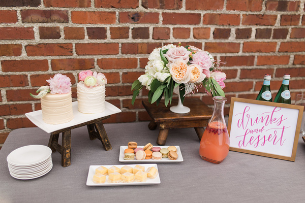 drink and dessert bar - photo by Fabiola Isabel Photography http://ruffledblog.com/charleston-styled-bridal-shower
