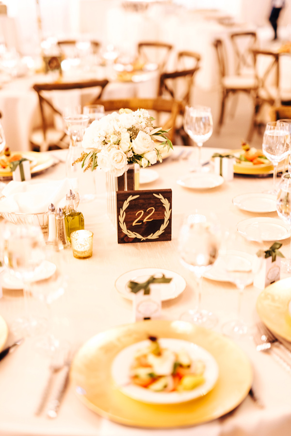 table number - photo by Steve Stanton Photography http://ruffledblog.com/greek-inspired-colorado-ranch-wedding