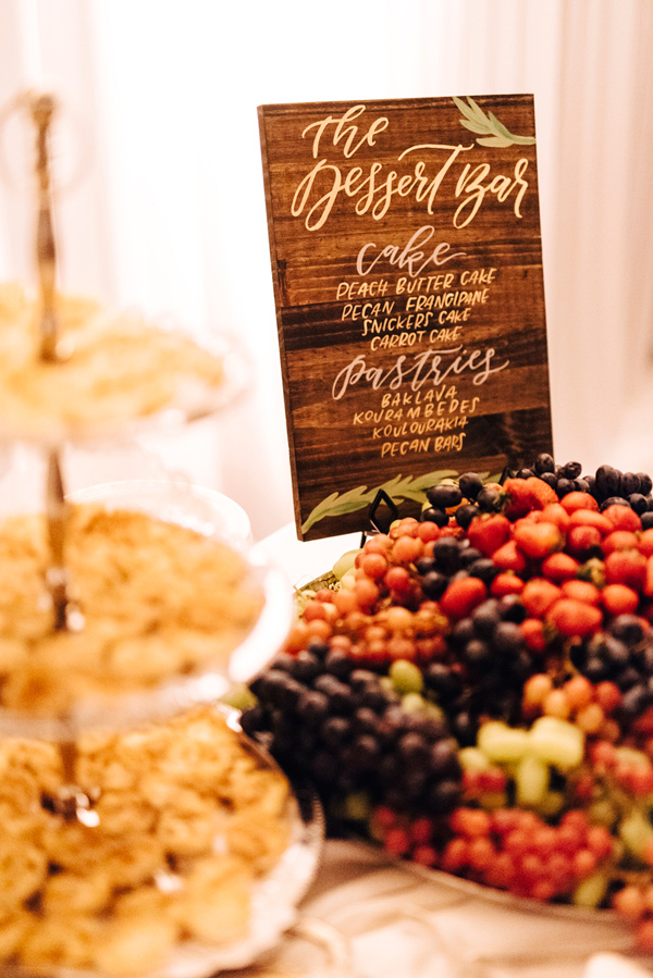 wedding desserts - photo by Steve Stanton Photography http://ruffledblog.com/greek-inspired-colorado-ranch-wedding