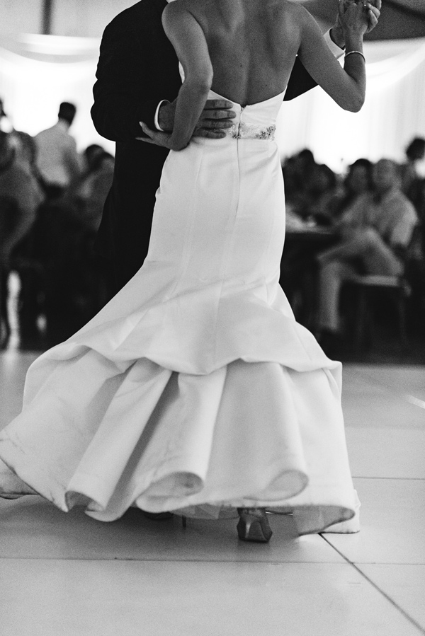 first dance - photo by Steve Stanton Photography http://ruffledblog.com/greek-inspired-colorado-ranch-wedding