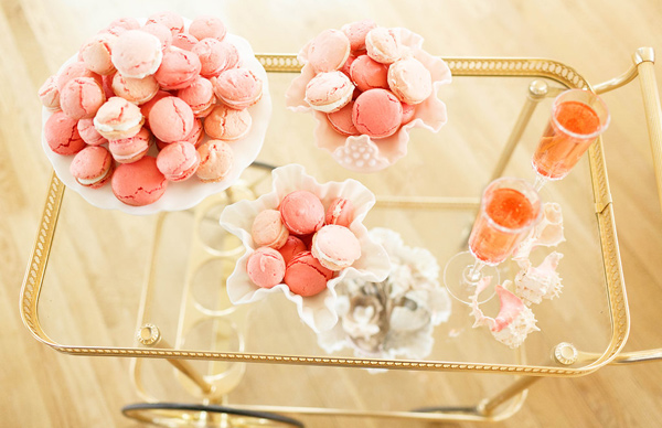 dessert cart - photo by Virginia Ashley Photography http://ruffledblog.com/mermaid-bride-wedding-inspiration
