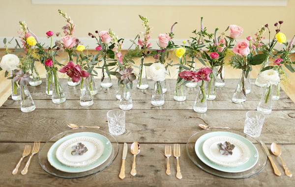 tablescape - photo by Virginia Ashley Photography http://ruffledblog.com/mermaid-bride-wedding-inspiration