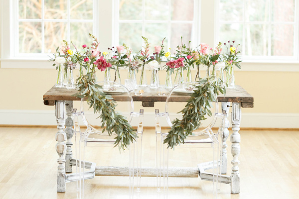 wedding table - photo by Virginia Ashley Photography http://ruffledblog.com/mermaid-bride-wedding-inspiration