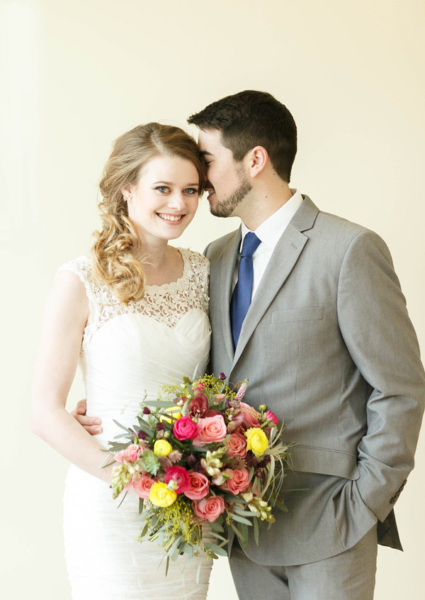 wedding portrait - photo by Virginia Ashley Photography http://ruffledblog.com/mermaid-bride-wedding-inspiration