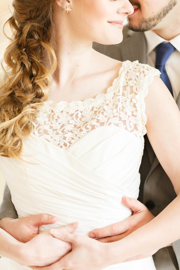 wedding dress detail - photo by Virginia Ashley Photography http://ruffledblog.com/mermaid-bride-wedding-inspiration
