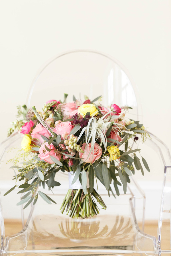 bouquet with eucalyptus - photo by Virginia Ashley Photography http://ruffledblog.com/mermaid-bride-wedding-inspiration