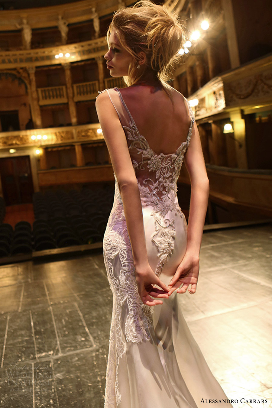 alessandro carrabs couture bridal 2016 sleeveless boat neck trumpet wedding dress (001) zbv sheer back