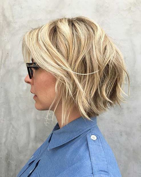 Short Blonde Hairstyle with Layers