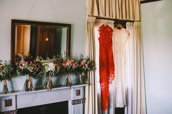 wedding dresses - photo by Lara Hotz Photography http://ruffledblog.com/botanical-australian-barn-wedding