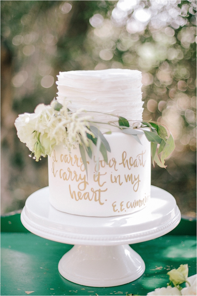 Calligraphy cake | Fern Shin fine art photography| Burnett's boards