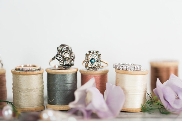 wedding rings - photo by Jessica Cooper Photography http://ruffledblog.com/sweet-caroline-bridal-collection