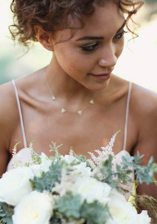 Unique, trendy necklace for a wedding | Alissa Noelle Photography