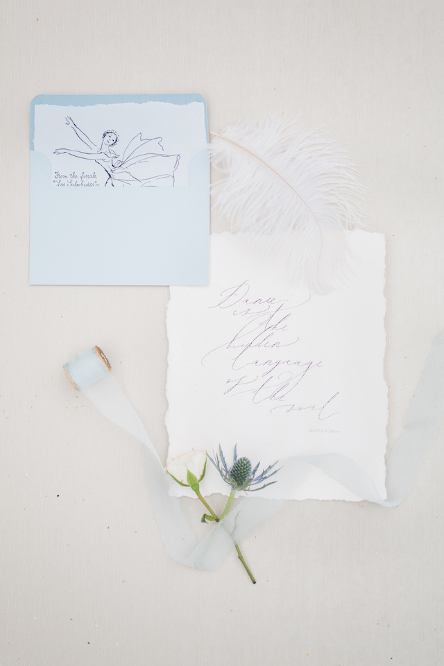 Ballet envelope liners and ballet quote | 1313 Photography