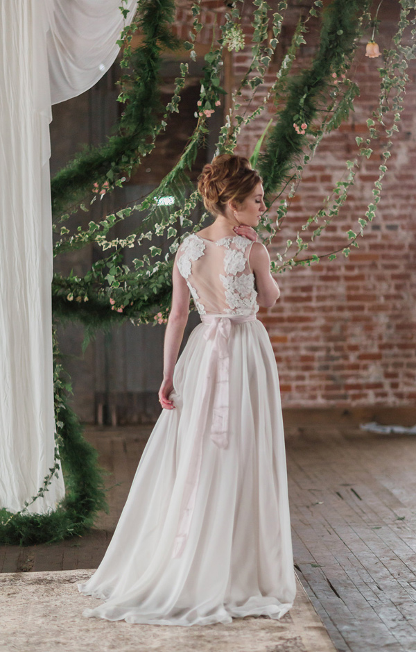 lace wedding dress - photo by Jessica Cooper Photography http://ruffledblog.com/sweet-caroline-bridal-collection