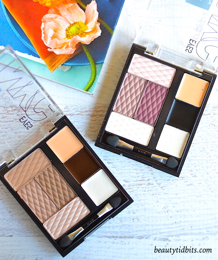 N.Y.C. New York Color IndividualEyes Eye Shadow Palettes in Bronze Nudes and Green Eyes Basics