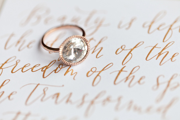engagement ring - photo by Corette Faux Photography http://ruffledblog.com/eleventh-century-abbey-wedding