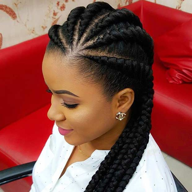 Ghana Braids Protective Hairstyle for Black Hair