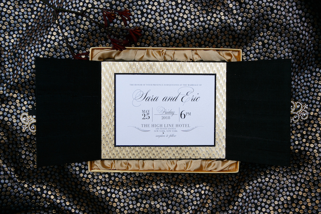 Fancy wedding invitations with velvet | Syed Yaqeen and Roadshow Wedding