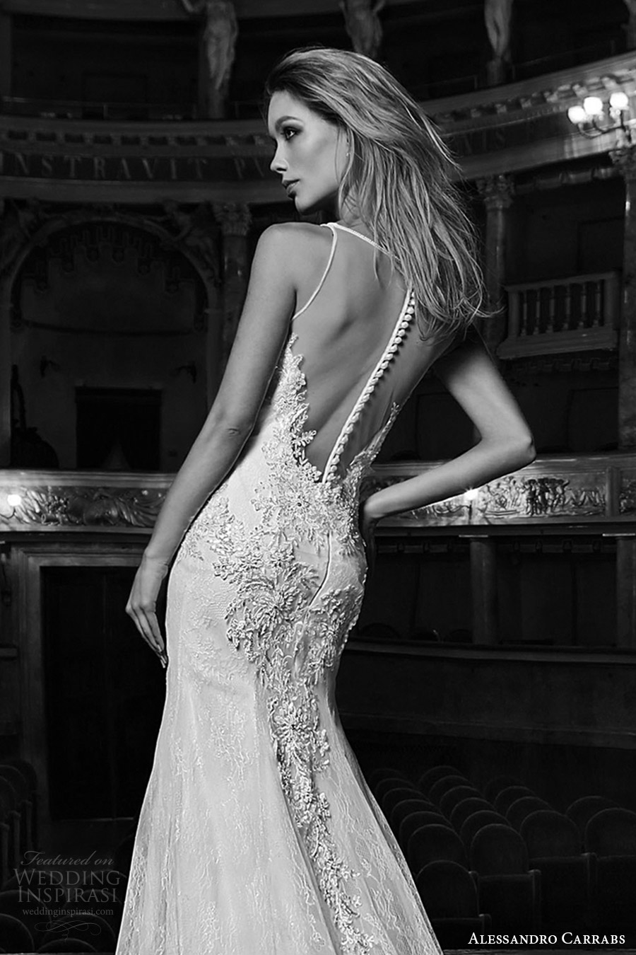 alessandro carrabs couture bridal 2016 sleeveless sweetheart illusion jewel neck mermaid lace wedding dress (051) zbv sheer back