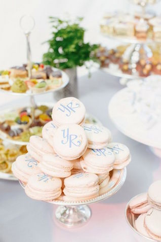 Monogram macarons | Elisabeth Millary photography | Burnett's boards