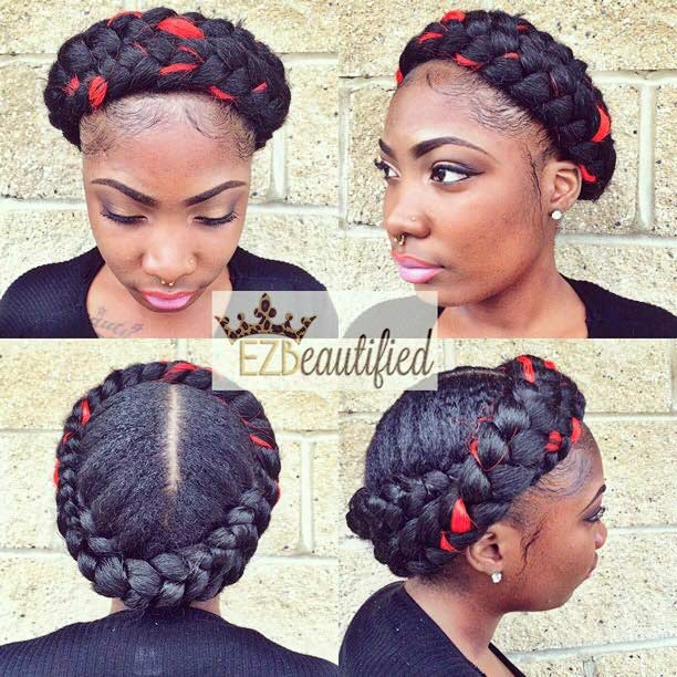 Braided Protective Hairstyle for Black Women