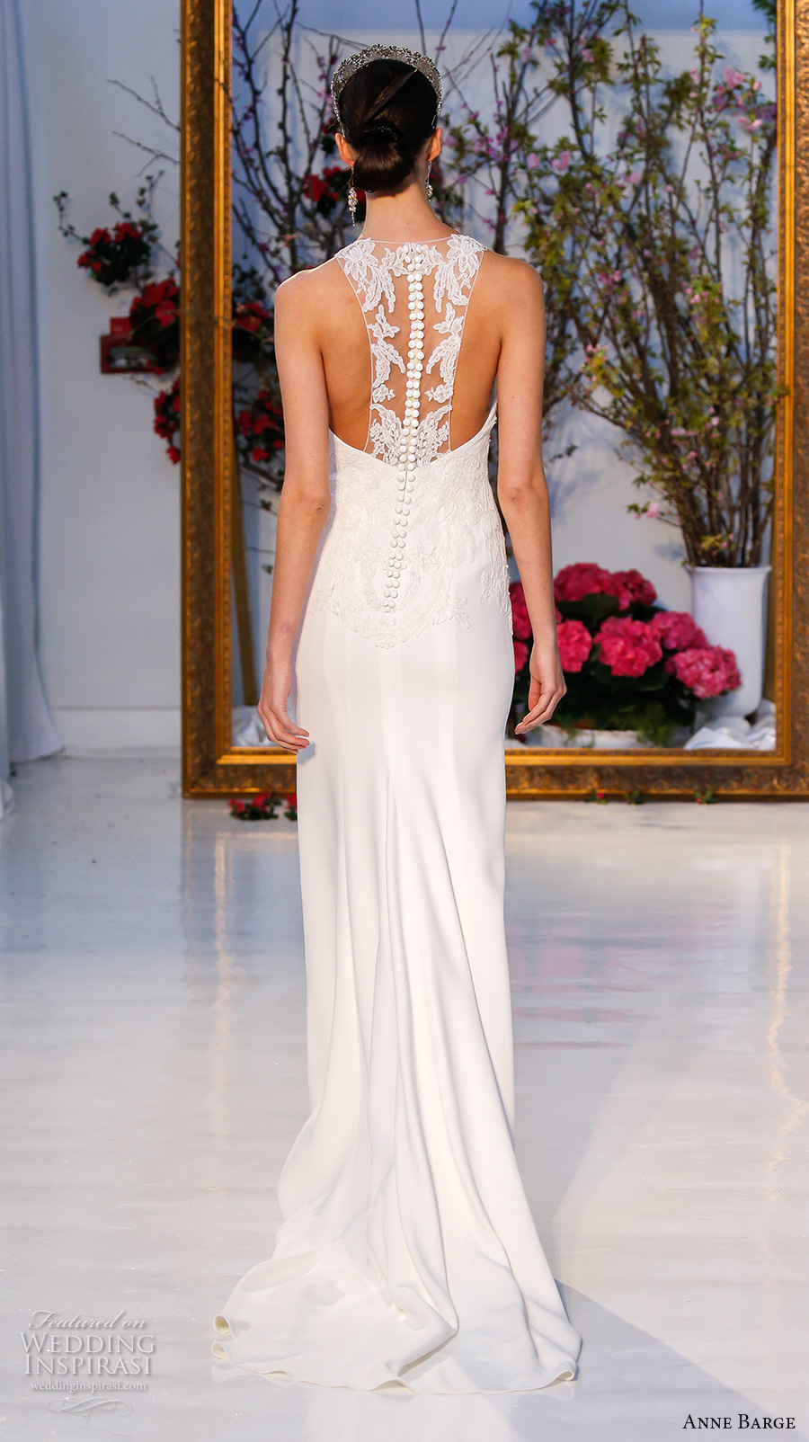 anne barge spring 2017 bridal sleeveless illusion jewel sweetheart neckline embellished bodice elegant sheath wedding dress racer back sweep train (016) bv