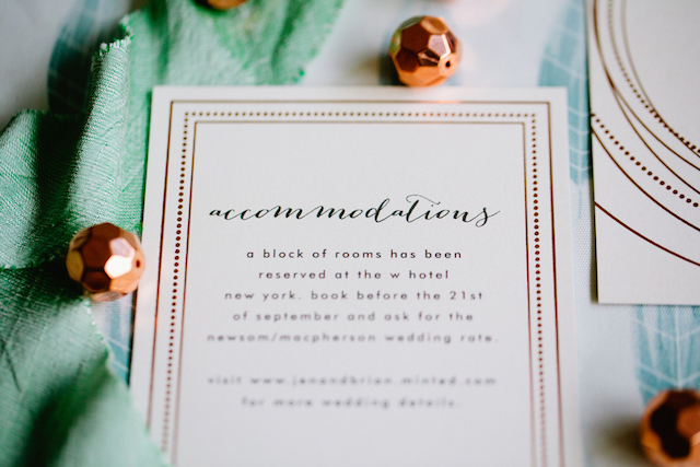 Rose gold confetti themed wedding paper goods | Betsi Ewing Photography | @AisleSociety and @Minted | #aislesociety #MintedWeddings #ASforMinted #styledbyaislesociety