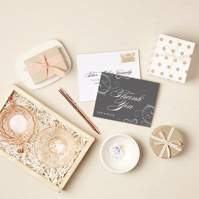 Wedding thank you notes from @basicinvite