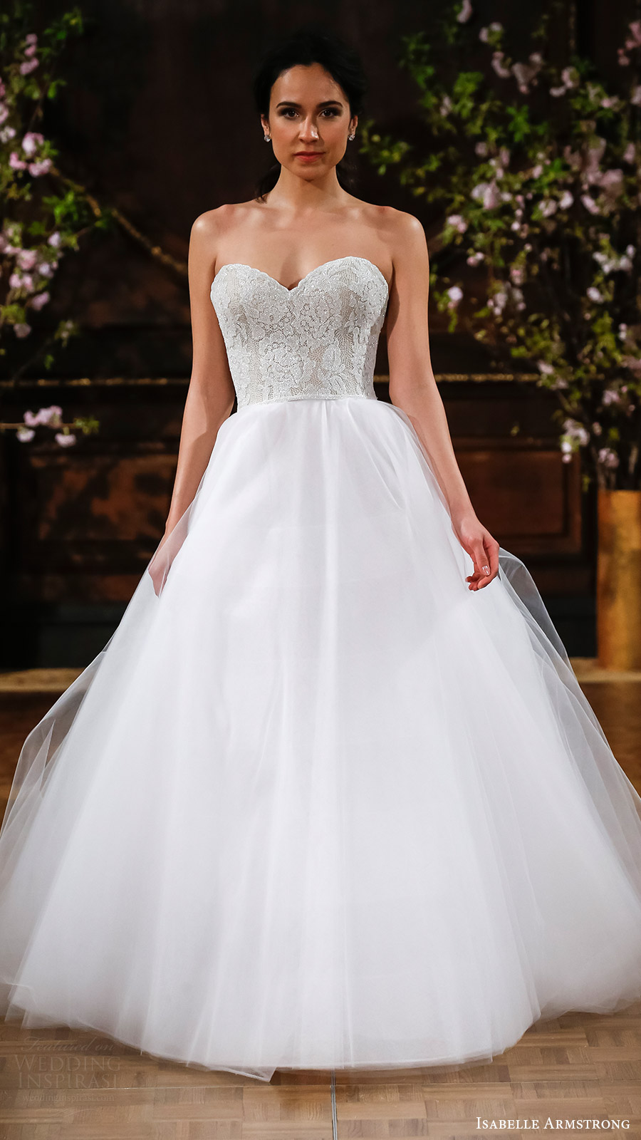 isabelle armstrong bridal spring 2017 strapless sweetheart ball gown wedding dress (jacki) mv romantic