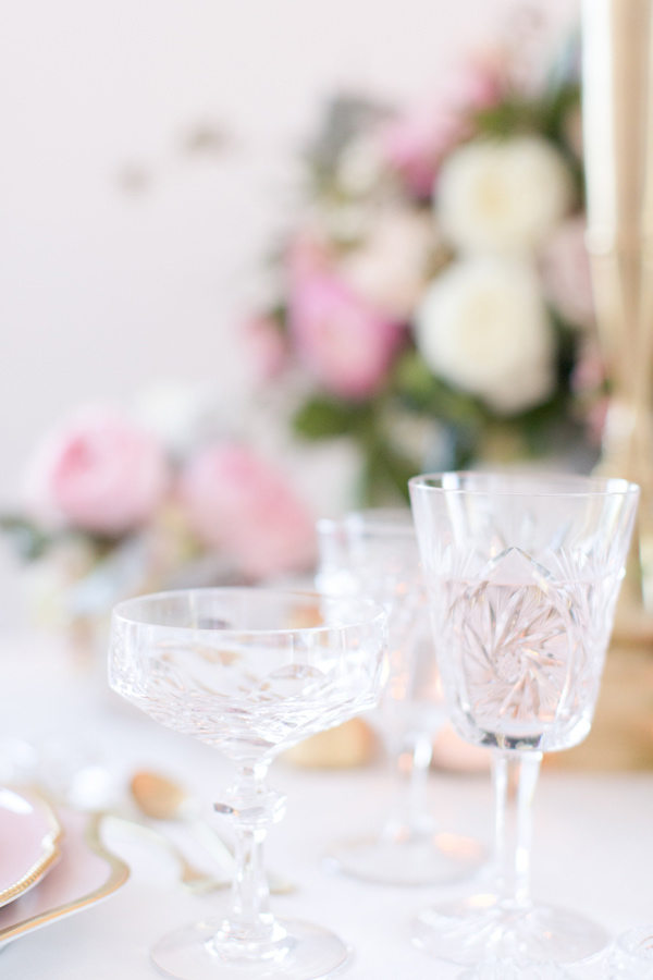wedding glassware - photo by Amy and Jordan Photography http://ruffledblog.com/handcrafted-romance-wedding-inspiration