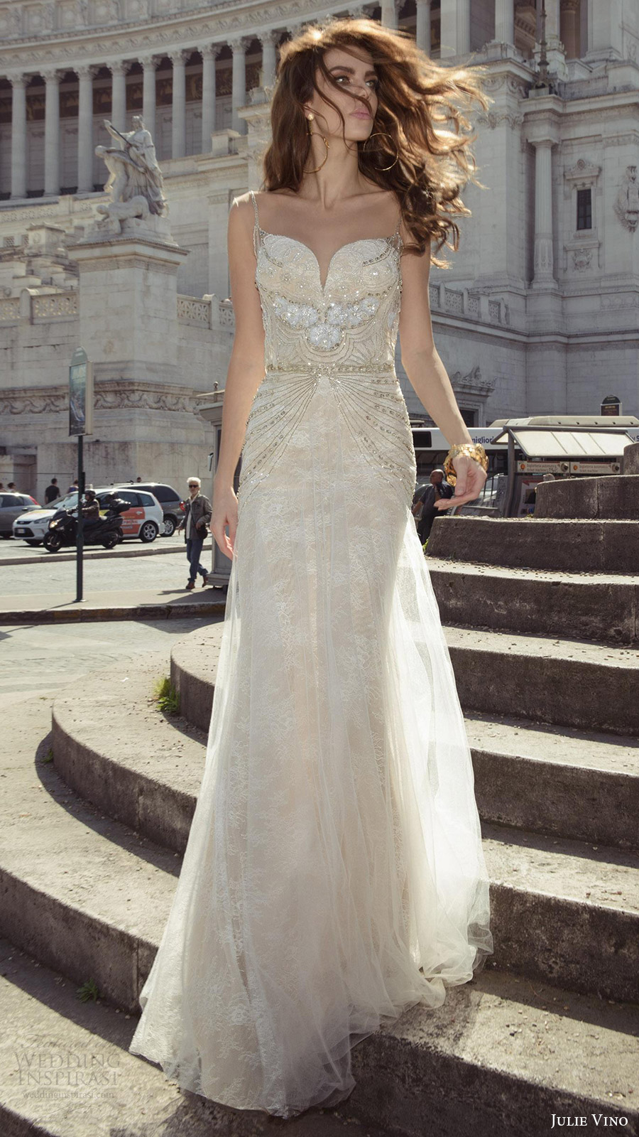 julie vino bridal spring 2017 sleeveless sweetheart sheath beaded bodice wedding dress (vita) mv champagne color