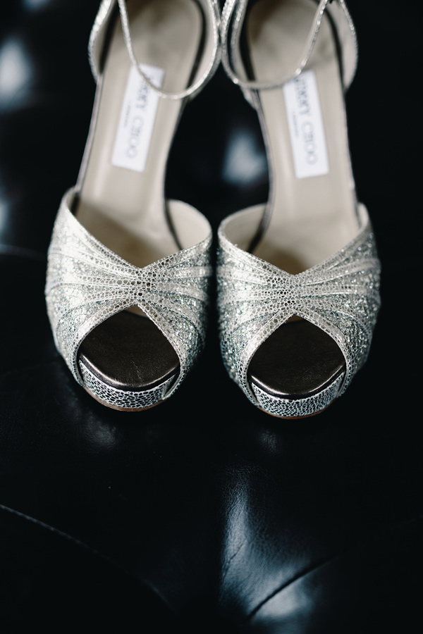 gold wedding shoes - photo by Logan Clement Photography http://ruffledblog.com/romantic-iowa-wedding