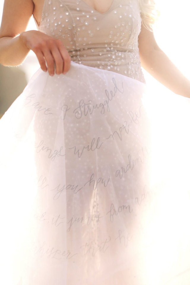 Calligraphy veil | Kay English photography | Burnett's boards