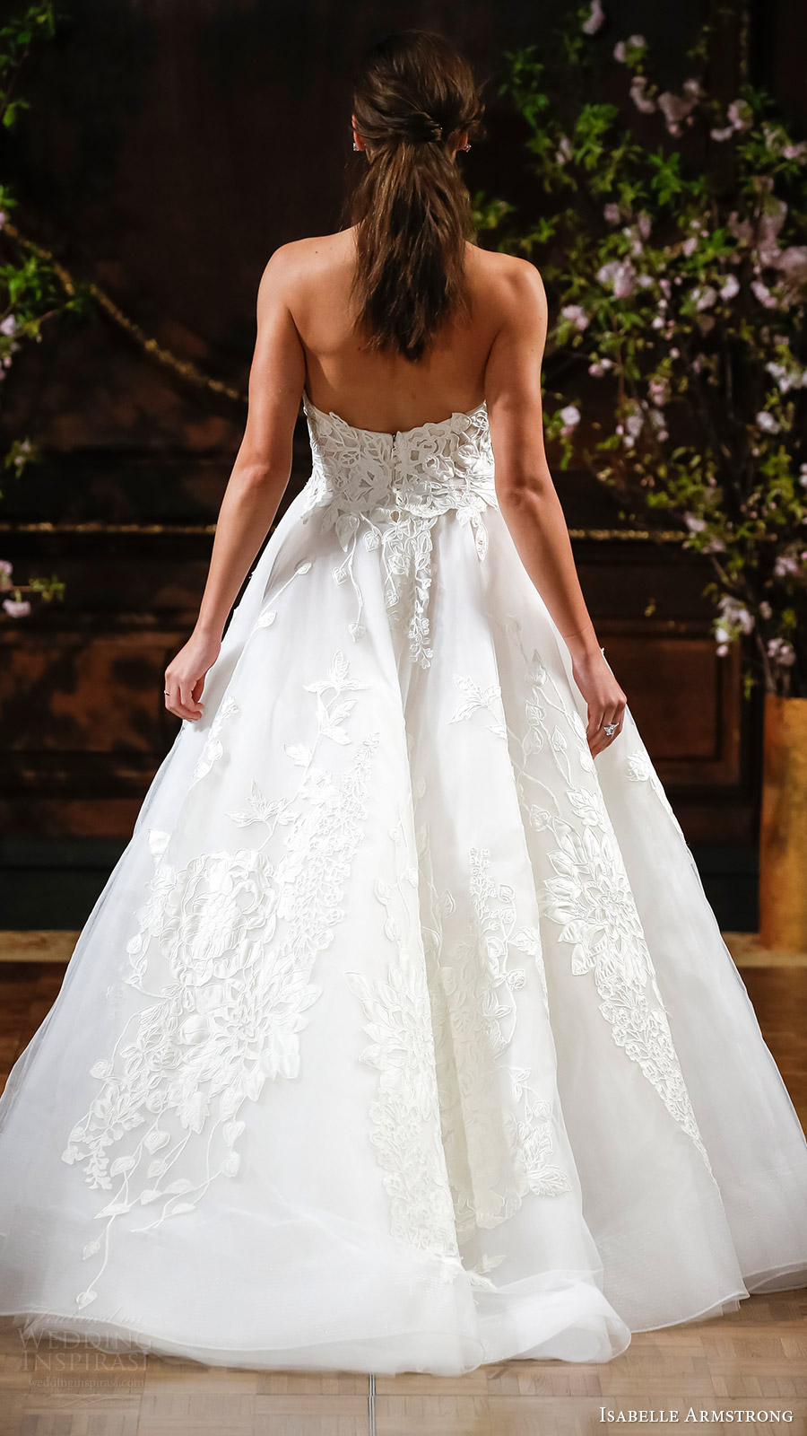 isabelle armstrong bridal spring 2017 strapless sweetheart aline wedding dress (charlie) bv romantic