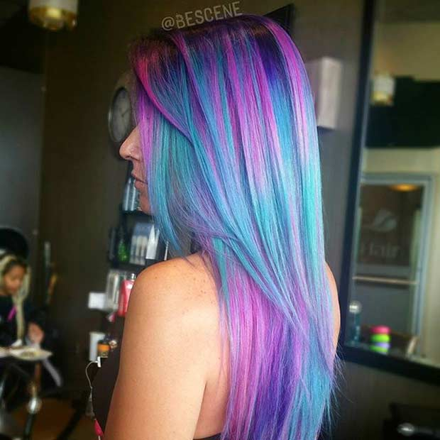 Colorful Fairy Pink and Blue Hair