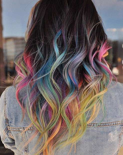 Colorful Tips Hair