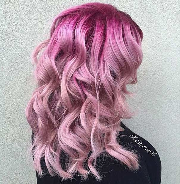 Light Pink Hair Color Idea