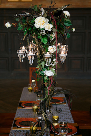 Wrought iron with hanging candles | Syed Yaqeen and Roadshow Wedding