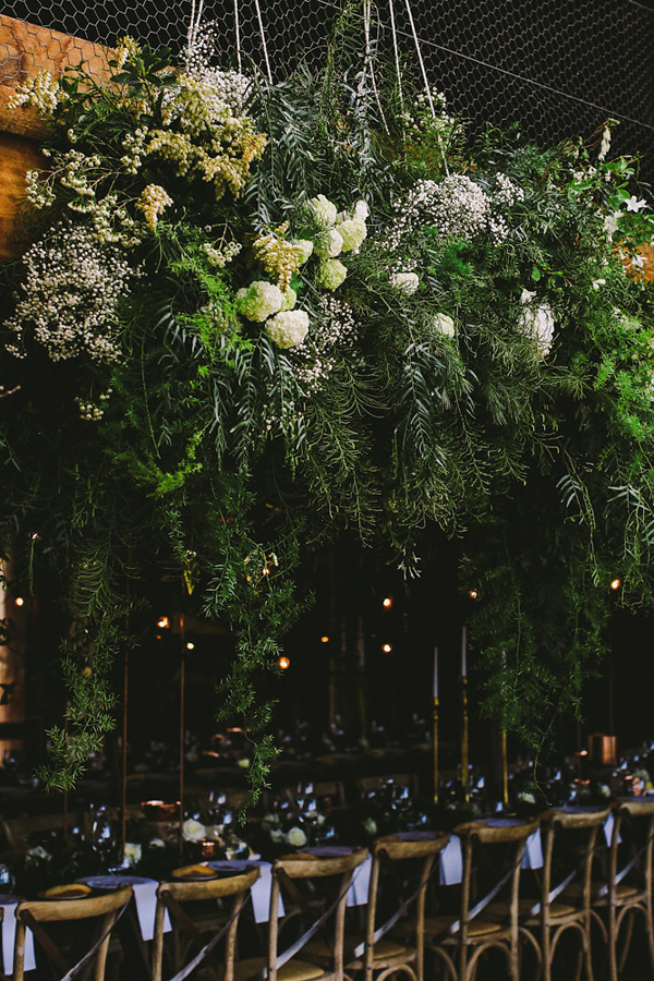 botanical reception - photo by Lara Hotz Photography http://ruffledblog.com/botanical-australian-barn-wedding